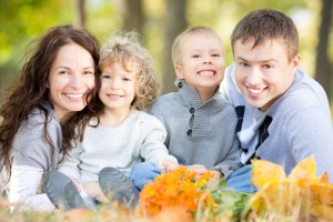 Family with healthy smiles from the trusted Norwood Dentist